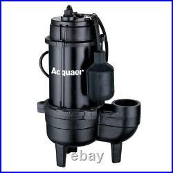 Acquaer 1/2 HP Cast Iron Sewage Pump Heavy Duty Cast Iron Basement Water Tank