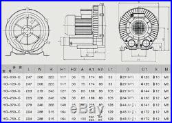 Air Pump Blower, Sunsun 21M³/H 120W Oxygen Water Pump For Aquarium Fish Pond Tank