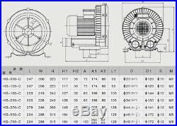 Air Pump Blower, Sunsun 26M³/H 180W Oxygen Water Pump For Aquarium Fish Pond Tank