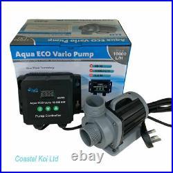Aqua Eco Vario 10,000 S Sine Wave Water Pump Koi Pond Uk Plug Coastal Koi