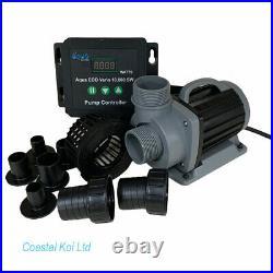 Aqua Eco Vario 10,000 S Sine Wave Water Pump Koi Pond Unions Uk Plug Coastalkoi