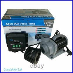 Aqua Eco Vario 22,000s Sine Wave Water Pump Koi Pond Uk Plug Coastal Koi