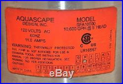 Aquascape 10000 Submersible Pump For Ponds, Skimmer Filters, And Pondless Water