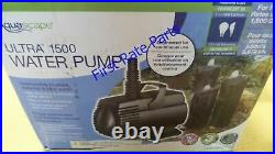 Aquascape Ultra 1500 Pump Water Submersible GPH Fountain Waterfall Pond 120V NEW