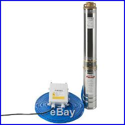 Arebos Deep Well Pump Submersible Water Pump 1.0 hp