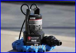 Automatic Pool Cover Water Removal Pump Oil-Free Submersible Check-Valve Supply