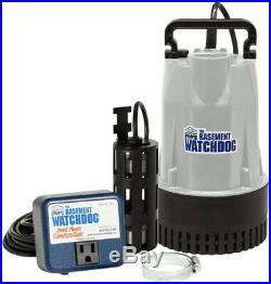 Basement Watchdog 1/2 HP Submersible Sump Pump Water pumping Basement Flood Iron