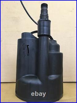 Basement auto water drainage pump internal float, low level residue pump 230v