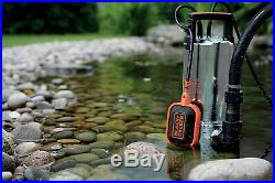 Black & Decker Submersible Dirty Water Pump Pond 1100W 16500 L/H BXUP1100XDE
