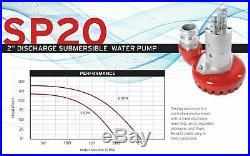 Bomba de agua hidráulica sumergible con manguera de 50 pies Desagüe de pisc