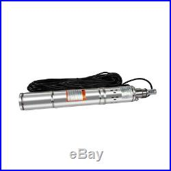 Borehole Deep Well Water Submersible Electric PUMP, 230V 14m cable, 80m Head