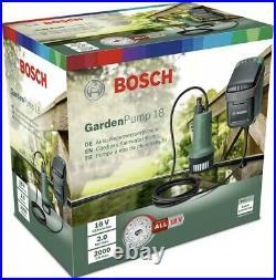 Bosch 18V GardenPump 18 Rainwater Garden 06008C4270 Battery Complete BNIB