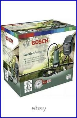 Bosch 18V GardenPump 18 Rainwater Garden 06008C4270 With Battery