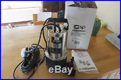 Brand New Unused SIP 06885 1025-SS SUBMERSIBLE WATER PUMP (DIRTY WATER)