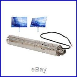 Brushless Water Pumping Machine Stainless Steel Screw Solar Submersible Pump 40M