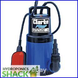 CLARKE Silent Running Submersible Water Pump 750W & 1000W Hydroponics Aquaponic