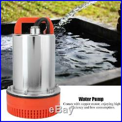 DC 12V 280W Submersible Solar Deep Well Water Pump for Farm Watering Irrigation