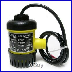 DC 12V 34W Small & Powerful Submersible Water Pump 690GPH Max lift 3m for Ponds