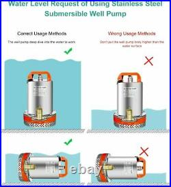 DC 12V Farm & Ranch Solar Water Pump Submersible Well Pump + 120W Solar Panel