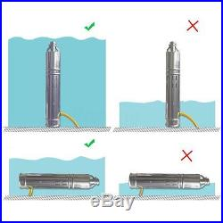 DC 24V 284W Solar Water Powered Pump Submersible Bore Hole Pond Deep Well Pump