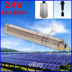DC 24V 284W Solar Water Powered Well Pump Submersible Bore Hole Pond Deep Gray