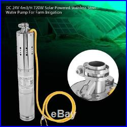 DC 24V 4m³/H Solar Powered Water Pump Farm Irrigation Submersible Deep Well inm