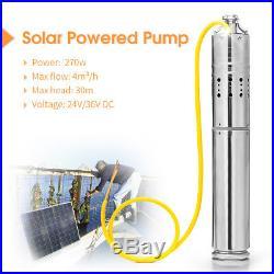 DC 24V 4m3/H Solar Powered Water Pump Farm&Ranch Submersible Bore Hole Deep