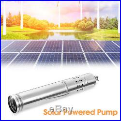 DC 24V 4m3/H Solar Powered Water Pump Farm&Ranch Submersible Bore Hole Deep Well