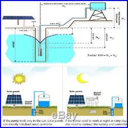 DC 24V 5m3/H Solar Powered Water Pump Farm&Ranch Submersible Bore Hole Deep Well