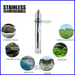 DC 24V Brushless Solar Deep Well Submersible Water Pump 190W, Stainless Steel