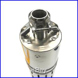 DC 24V Brushless Solar Deep Well Submersible Water Pump 284W, Stainless Steel