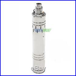 DC 24V Solar Deep Well Screw Submersible Water Pump 684W, Stainless Steel, 3.5'