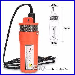 DC 24V Submersible Deep Well Water Pump Solar Battery for Pond Garden Watering