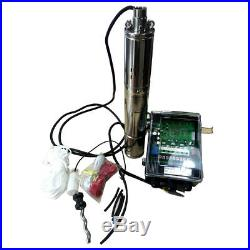 DC 36V Solar Brushless Deep Well Submersible Pump 500W Screw Water Pump 196.8FT