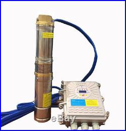DC 48V 300W Solar 3 Inch Submersible Deep Well Water Pump With Controller