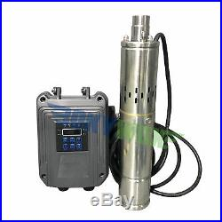 DC 48V Brushless Solar Deep Well Submersible Pump 500W Screw Water Pump 393.7FT