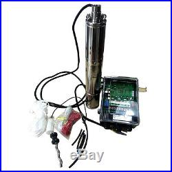 DC 48V Brushless Solar Deep Well Submersible Pump 750W Screw Water Pump, 262.5FT