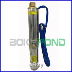 DC 48V Solar Brushless Deep Well Submersible Pump 300W Centrifugal Water Pump