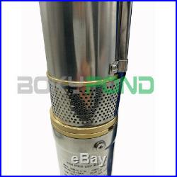 DC 48V Solar Brushless Deep Well Submersible Pump Centrifugal Water Pump, 3 Inch