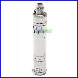 DC 48V Solar Deep Well Screw Submersible Water Pump 489W, Stainless Steel, 3.5'