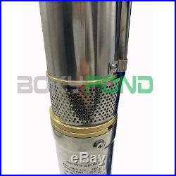 DC 72V Solar Brushless Deep Well Submersible Pump 3 Inch Centrifugal Water Pump