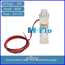 DC Brushless Solar Water Pump 24V 3m3/h 40m Head Submersible Deep Well Pump