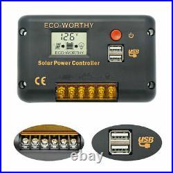 DC12V 100W Solar Panels Kit Solar Deep Well Water Pump Solar Power f Garden/Farm