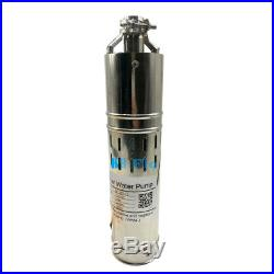 DC12V Solar Brushless Deep Well Submersible Water Pump 2m3/H, 240W, 30M Max Lift