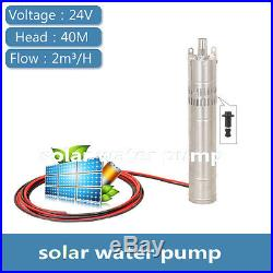 DC24V Screw Submersible Solar Water Pump 2000L/H 40m 200W Head Submersible