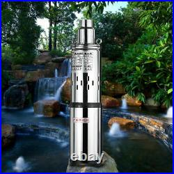 DC24V Submersible Deep Well Pump Solar Water Pump Garden irrigation Kits 200W