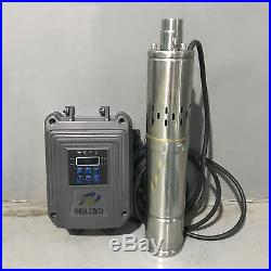 DC48V Brushless Solar Deep Well Submersible Pump 750W Screw Water Pump 459FT Max