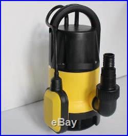 DIRTY WATER PUMP 750W UNIVERSAL SUBMERSIBLE AUTOMATIC ELECTRIC POND PUMPS -New