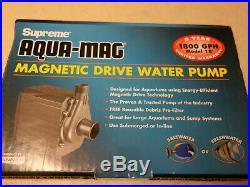Danner Supreme Aqua-Mag Magnetic Drive 18 Utility 1800 GPH Water Pump NEW