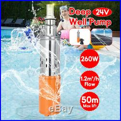 Deep Well Submersible Pump 24V 50M Max Lift Solar Powdered Water Pump